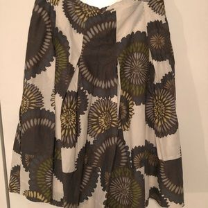 BCBG a line skirt with floral print